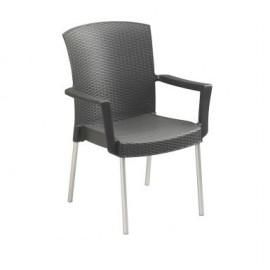 Lot de 4 fauteuils de jardin Inéo