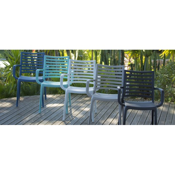Lot de 4 fauteuils de jardin Sunday