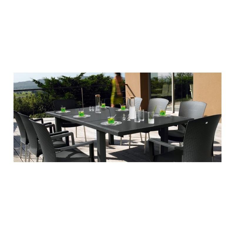 Salon de jardin Inéo et ses 6 fauteuils