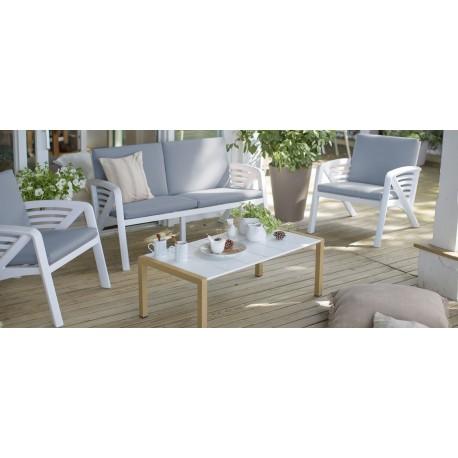 Salon de jardin conversationnel design de haute qualité Grosfillex