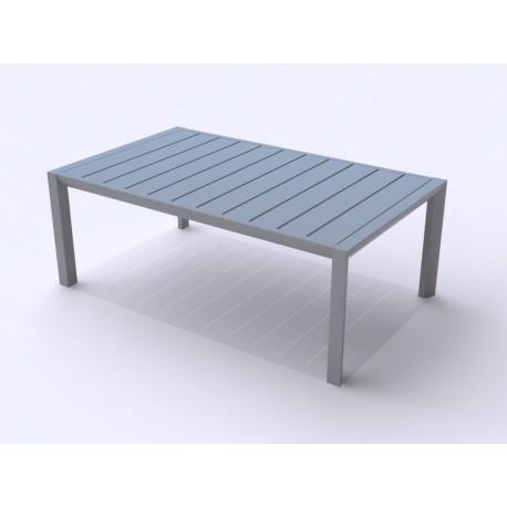 table basse sunset 100x60 cm en aluminium laqu grosfillex. Black Bedroom Furniture Sets. Home Design Ideas
