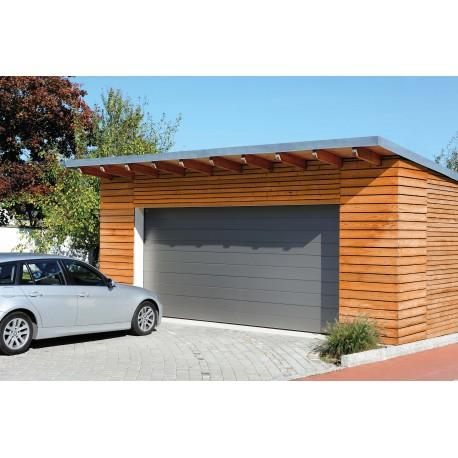 Porte de garage sectionnelle en acier avec rainures