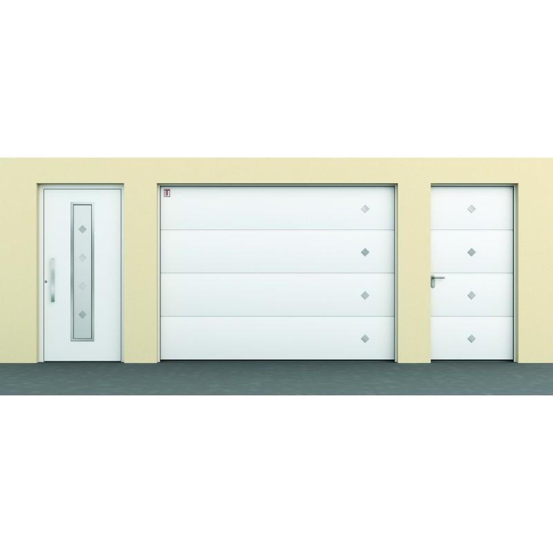 Porte de garage sectionnelle plafond avec aspect - Porte de garage industrielle sectionnelle ...