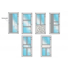 Porte d'entrée PVC semi-vitrée