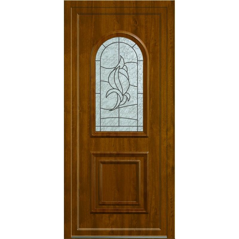 Porte d 39 entr e pvc moulur e haute qualit grosfillex - Revetement porte d entree ...
