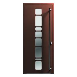 Porte entrée aluminium avec vitrages optimisés