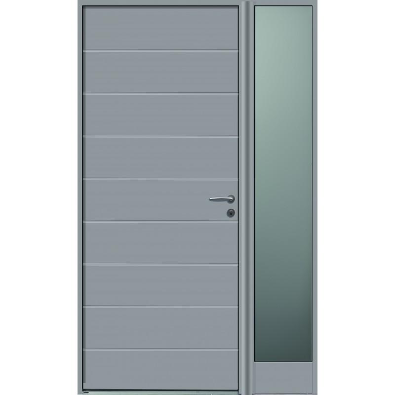 Porte d 39 entr e semi vitr e en bois garantie 10 ans for Revetement porte d entree